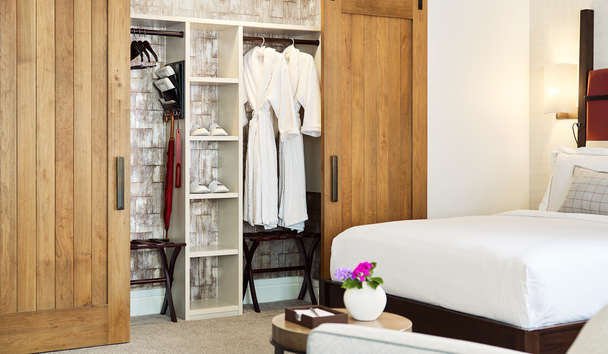 The Little Nell: Barn Door Closet in Room
