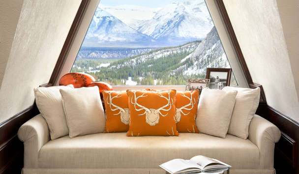 Fairmont Banff Springs, The Royal Suite Window Seat, Canada