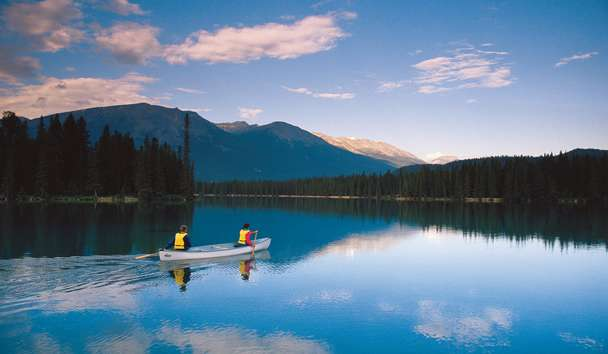 Fairmont Jasper Park Lodge, Canoeing on the Lake, Canada