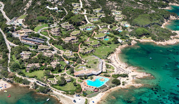 Hotel Pitrizza: Aerial view