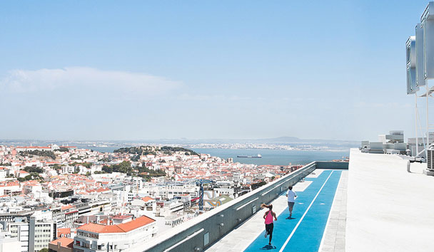 Four Seasons Hotel Ritz Lisbon: Rooftop Running Track