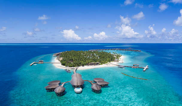 The St Regis Maldives Vommuli Resort: Aerial View