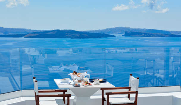 Canaves Oia Sunday Suites: Dining