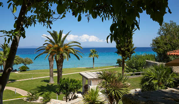 Afitis Boutique Hotel: Gardens and sea view