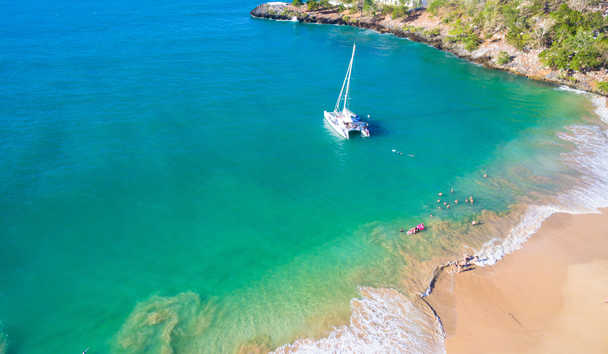 Sublime Samana: Catamaran at Sea