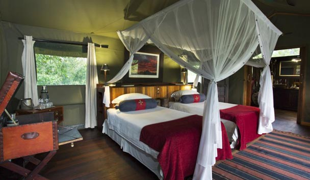 Selinda Camp, Luxury Tent Interior
