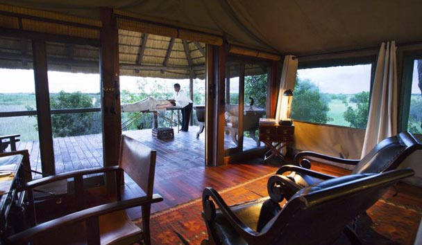 Selinda Camp, Luxury Tent Interior And View