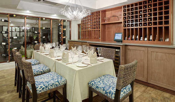Treasure Beach by Elegant Hotels: Wine Cellar Dining