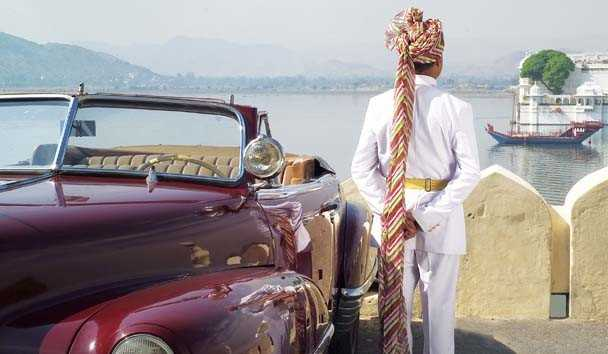 Taj Lake Palace, Vintage Car Transfer