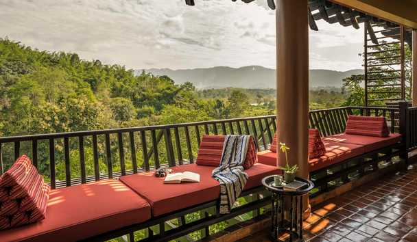 Anantara Golden Triangle Elephant Camp & Resort: Country Suite Balcony