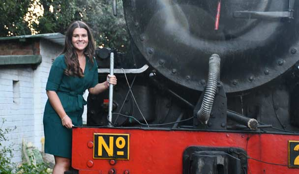 Jessica With The Royal Livingstone Train, Zambia