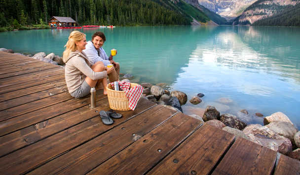 Picnic by Lake Louise