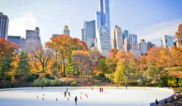 Ice Rink in Central Park, New York