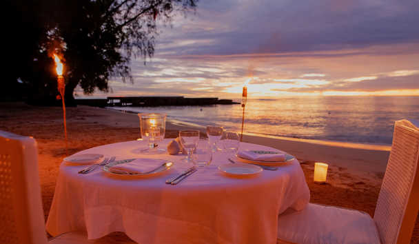 Cobblers Cove: Private Dining on the Beach