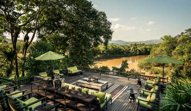 Four Seasons Tented Camp Golden Triangle: Terrace Seating