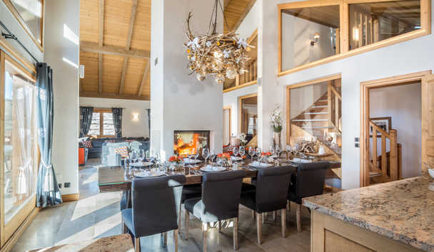 Portetta Mountain Lodges: Chamois Lodge Dining Room
