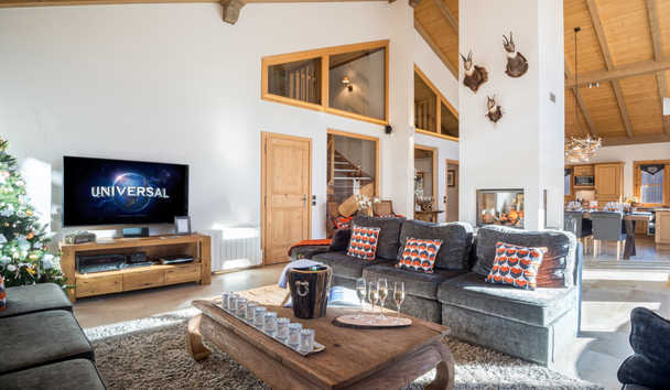 Portetta Mountain Lodges: Chamois Lodge Living Area