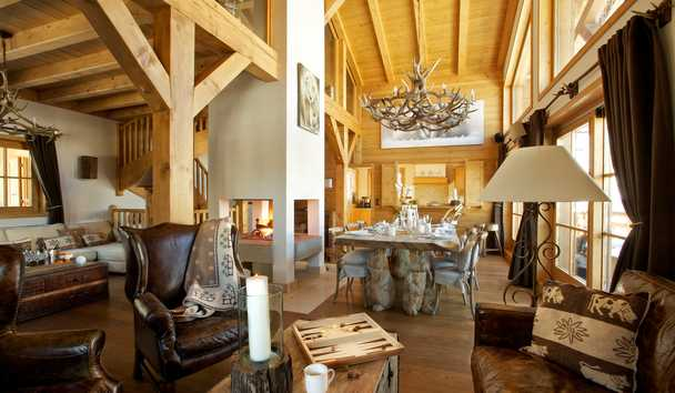 Portetta Mountain Lodges: Blanchot Lodge Living Room