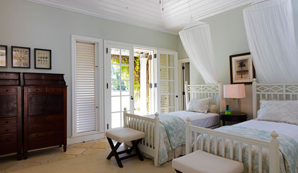 Oleander Estate House at Jumby Bay Island: Twin Bedroom