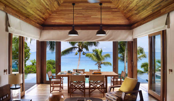 Six Senses Zil Pasyon: Two Bedroom Pool Villa Living Room
