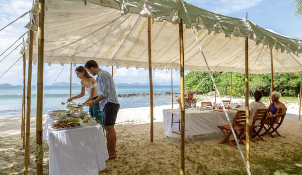 Gingerbread, Mustique: Beach Dining