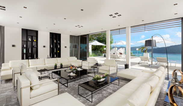 Cliff Top Residence: Living Area