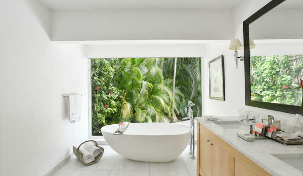 Cheval Blanc Saint-Barth Isle De France: Garden Suite Bathroom