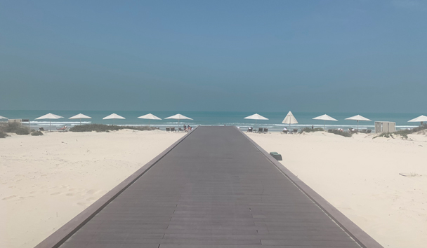 The beach at Jumeirah at Saadiyat Island