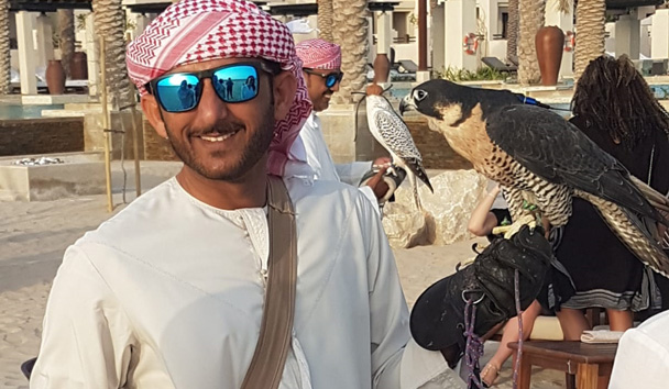 A falconry show at Jumeirah Al Wathba