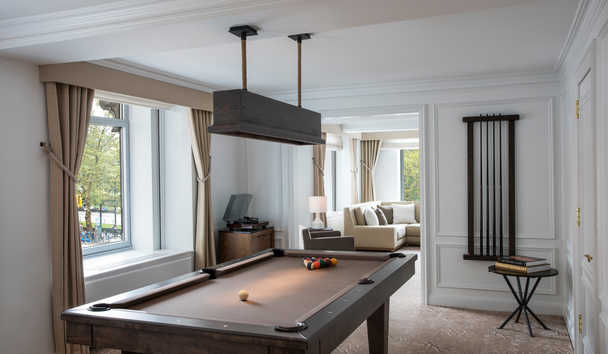The Ritz-Carlton, New York Central Park: The Artists' Gate Suite Billiard Room