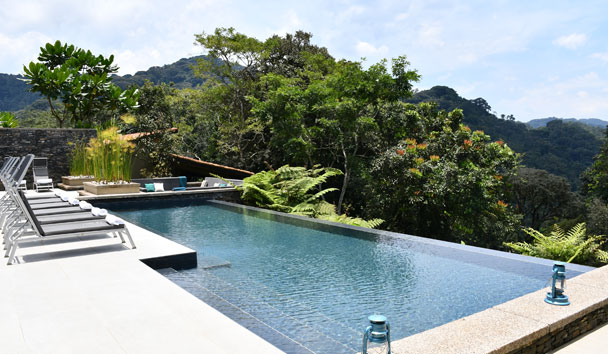 The lovely pool at One&Only Nyungwe House