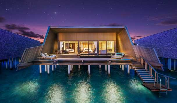 The St. Regis Maldives Vommuli Resort: Sunset Overwater Villa with Pool