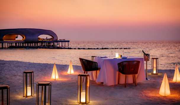 The St. Regis Maldives Vommuli Resort: Private Beach Dinner