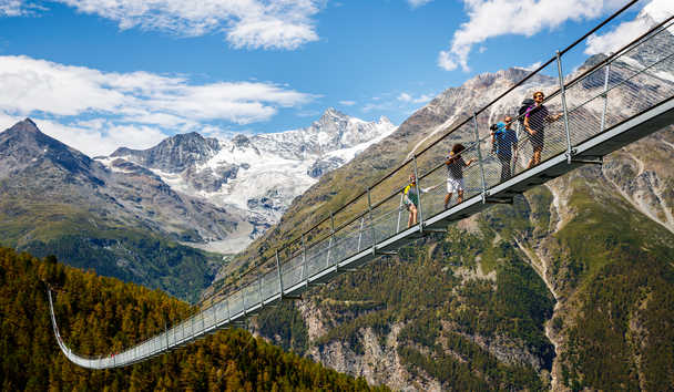 Chalet Zermatt Peak: The Charles Kuonen Suspension Bridge