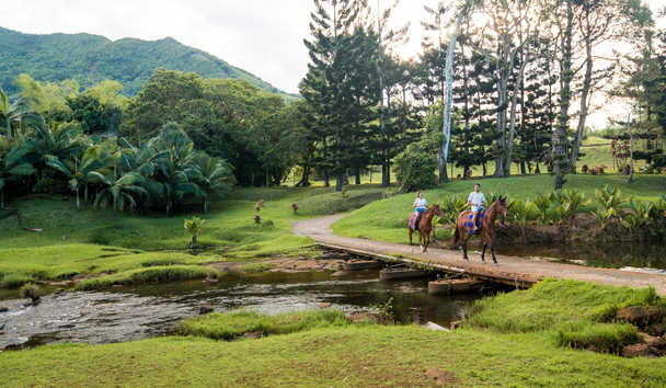 Shangri-La's Le Touessrok Resort & Spa, Mauritius: Horse Riding at Domaine de L'Etoile