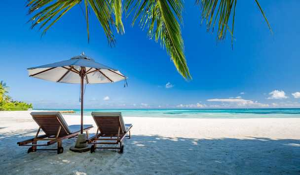 LUX South Ari Atoll - Beach with Sunloungers