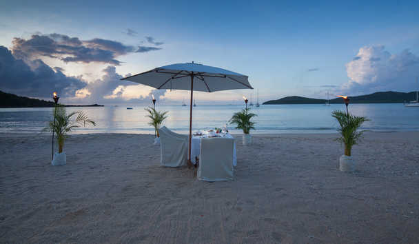 Hermitage Bay: Private beach dinner