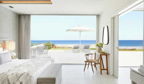 Ikos Aria: Deluxe One Bedroom Bungalow Suite with Private Garden Beachfront